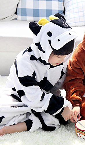 annel Animal Novelty Costumes Cosplay Pajamas Role-Playing Halloween Play Clothes,Cows,XXL (Tier Kostüme Für Tweens)