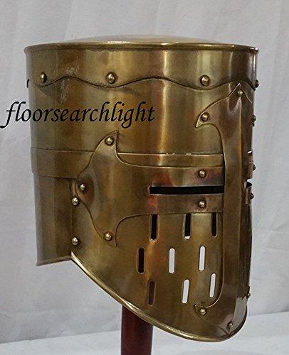 Mittelalter Templar Knight Crusader Panzer Helm–Halloween-Kostüm Spartan (Spartan Kostüm Helm)