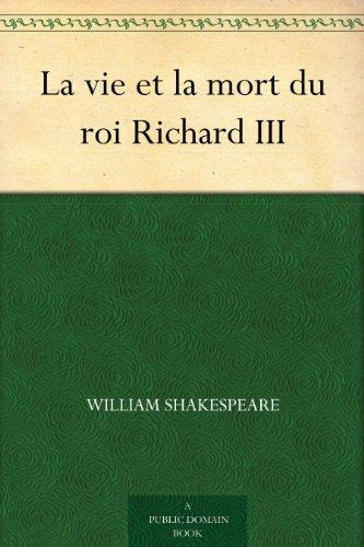 Couverture du livre La vie et la mort du roi Richard III