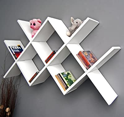 Design retro shelf caro white wall or stand shelf books CD hanging shelf produced by ts-ideen - quick delivery from UK.