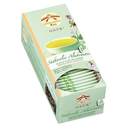 Almar Golden Bridge Premium Tea O.S.T.B - Südtiroler Kräuter BIO - 30 Teefilter, 33 g - Zitronen-kräuter-tee