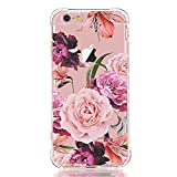 iPhone 6 6S Case with flowers, LUOLNH Slim Shockproof Clear