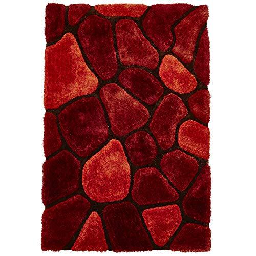 Shag Teppich Acryl (Think Rugs Teppich, Acryl und Polyester, 180 x 270 cm, Orange)