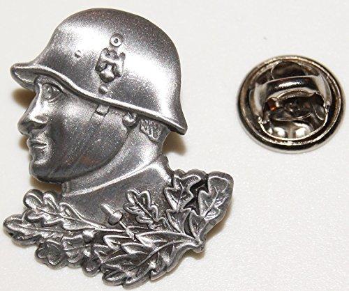 Soldat Landser Stahlhelm Adler Eichenlaub l Anstecker l Abzeichen l Pin 391