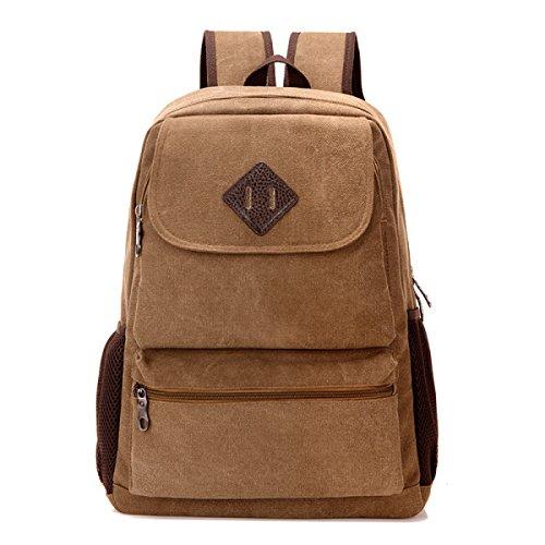 BULAGE Taschen Männer Leinwand Schultern Im Freien Erholung Rucksäcke Männer Und Frauen Computer Schultaschen Große Kapazität Reist Student Brown