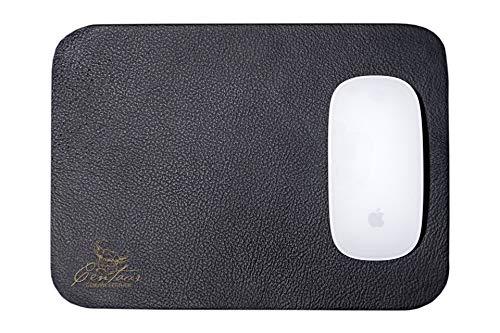 Centaur Mouse-Pad 25x18 cm handgefertigt in Deutschland Mauspad aus Leder Ecken abgerundet Rutschfest schwarz weitere Farben -