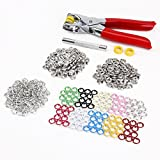 *Versand aus Hamburg* 150 Set 10 Farben Druckknopf Druckknoepfe Open Ring & Zange Werkzeug DIY Basteln