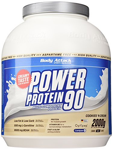 Body Attack Power Protein 90, Cookies und Cream, 2kg Dose