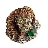 ECMQS Ägyptischer Pharao alte Sphinx ruiniert Aquarium Fisch Ornament Dekoration