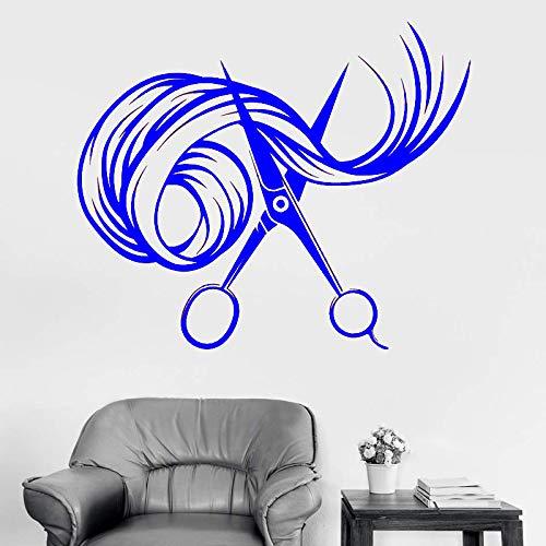 xingbuxin Fototapete Schere Friseur Schönheitssalon Friseur Friseur Aufkleber Fenster Logo Muster abnehmbare Innendekoration 2 57x47cm