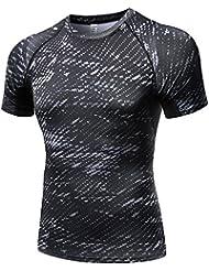 Greatlizard Salle de GYM Compression Base Layer Tops Serres Sports T-Shirts Athletiques pour Hommes