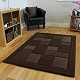 Small-Large Plain Chocolate Brown Cheap High Quality Rugs 8 Sizes- Contempo