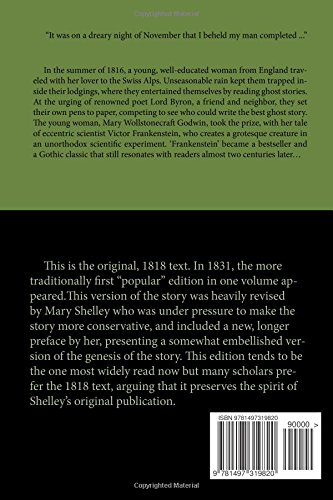 Frankenstein - Original 1818 Uncensored Version