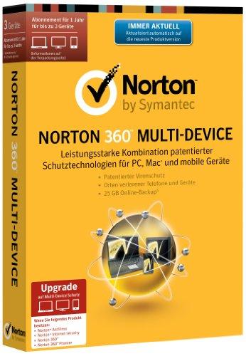 Norton 360 Multi Device 2.0 - 3 Geräte - Upgrade (PC, MAC, Android, iOS) (Minibox) (Norton Pc 360 2)