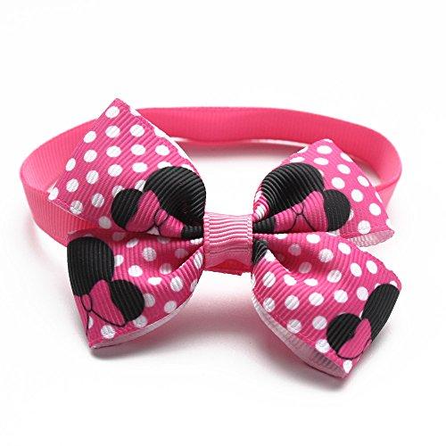60PCS Cute Pink Dog Collars Handcrafed pajarita ajustable desmontable para pequeño perro...