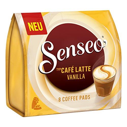 Senseo Monodosis Café Latte Vanilla, Vainilla Leche Café, Café con Leche Pad, 8Pads