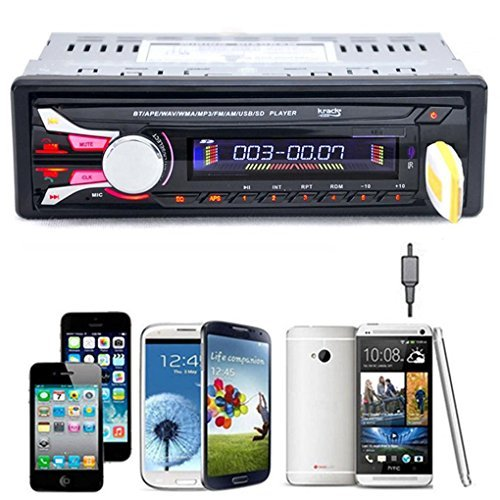 Hatop Bluetooth Car Stereo Audio In-Dash Aux Input Receiver SD/USB/FM MP3 Player