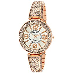 Fabiano New York Analogue Off White Dial Girl's and Women's Watch-Fny079