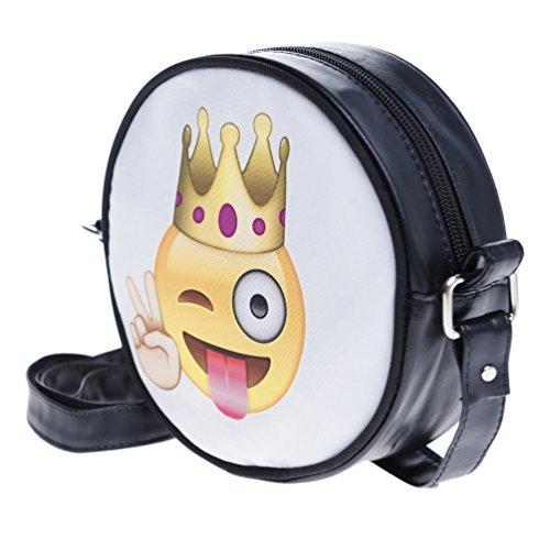 Fringoo, Borsa a tracolla donna Multicolore Emoji Week small Emoji King