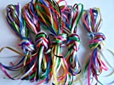 "10 x 1m x 3mm 1/8"" Satin Ribbon Assorted bundle colours 10 metres Wedding Favours Decorative Easter Christmas"