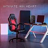 Gaming Stuhl Chair, Hoch Rücken Ergonomischer PU Leder Bürostuhl Racing Sportsitz Gaming - 2