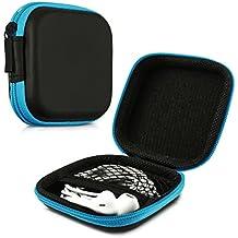 kwmobile Estuche rígido para In-Ear auriculares en azul - Estuche de alta calidad para tus auriculares