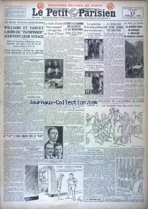PETIT PARISIEN DERNIERE EDITION DE PARIS (LE) [No 19126] du 11/07/1929
