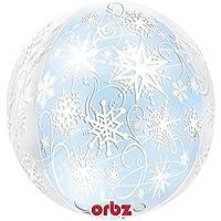 Amscan Orbz Frozen Snowflakes Foil Balloon