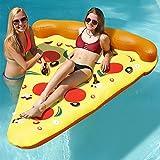 Lumiparty colchoneta piscina hinchable flotador de pizza,divertido juguete deportes acuáticos de verano para fiesta playa para adultos y niños,180*150cm(colorido)