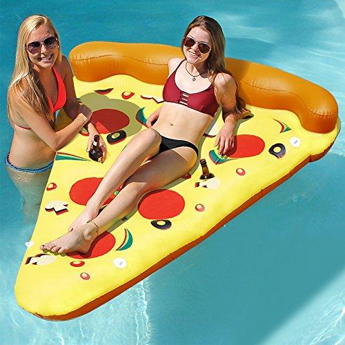 Lumiparty 180*90*20cm Pool Float Raft Ananas aufblasbare Luftmatratze,Pizza Float,Poll Party Lounge Spielzeug für Kinder und Erwachsene (Mehrfarbig)