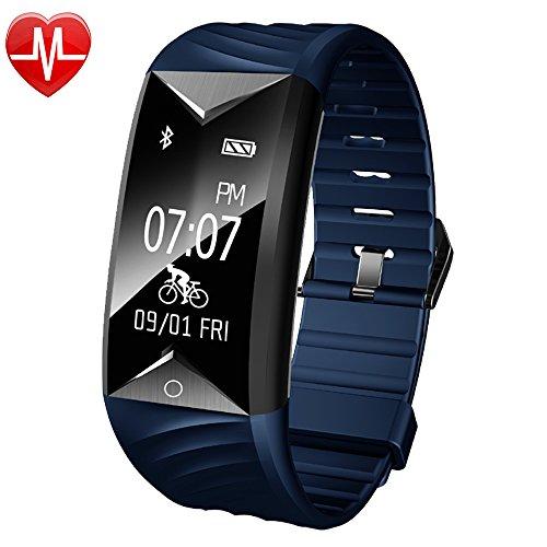 YAMAY Fitness Armband mit Pulsmesser,Fitness Tracker mit Herzfrequenz Wasserdicht IP67 Aktivitätstracker Pulsuhren Smartwatch Schrittzähler Armbanduhr mit Schlafmonitor...