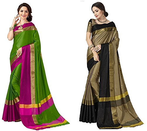 Art Decor Sarees Women's Cotton Silk Designer Sarees For Women With Blouse...