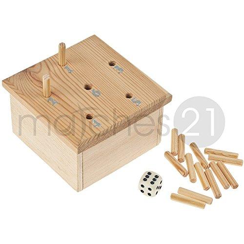 matches21 Würfelspiel aus Holz Bausatz Werkset mit Bauplan und Spielanleitung für Kinder