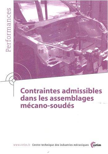 Contraintes admissibles dans les assemblages mécano-soudés