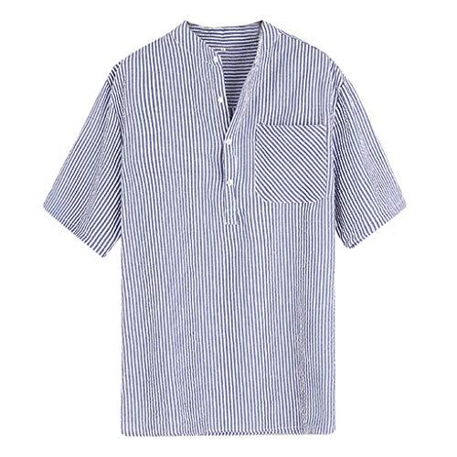 Camicie uomo eleganti ☯wqianghzi☯ maglietta casual maniche corte taglie forti stretch traspirante pulsanti slim fit shirt estiva spiaggia canottiera