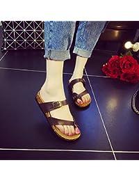 XIAMUO Koreanische Version von Frau Cork Hausschuhe Sommer Plus size Rutschfest rutschfeste Flat student Sandalen Flip Flops von Strand 37 drei Tasten weiszlig;