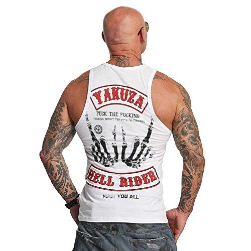 Yakuza Original Herren Hell Rider Tank Top T-Shirt Weiß