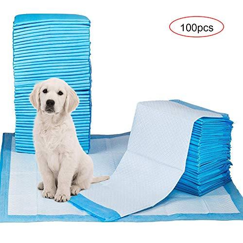 WLDOCA Super Saugfähige Hunde- & Welpentrainingspads,Haustier Toilette Training Pads Matten Decken,Geruchsbeseitigung & Auslaufsicher,100pcs