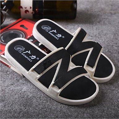 Slippers & amp da uomo;PU comfort estate sandali casuali piani del tallone sandali US6-6.5 / EU38 / UK5-5.5 / CN38