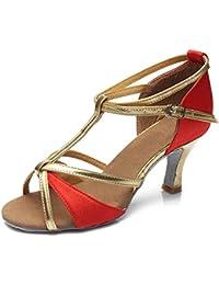 HROYL Mujer Zapatos de Baile Latino/Zapatos de Baile Maestro Cuero/Tela Salón de Baile 255 Nergo 36 EU po9d111Hdn