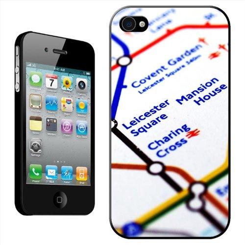 Around the World Coque arrière rigide détachable pour Apple iPhone modèles, plastique, Close Up Of Europe On Globe, iPhone 5C Tube Map Leicester Square