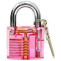 bullkeys nuovo mini lucchetto trasparente e colorata per giocatori/locksmithing pratica (Blu)