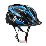 toptotn ecológica adultos bicicleta Ciclismo casco ajustable Trinity Hombres Mujeres casco para bicicleta de montaña bicicleta de carretera seguridad protección, azul