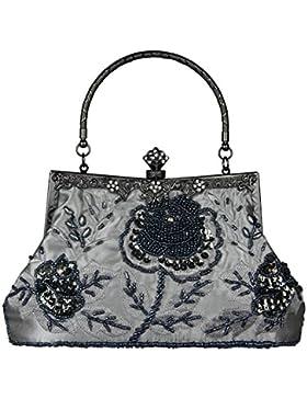ECOSUSI Frauen Vintage Wulstige Abendtasche Handtasche Clutch
