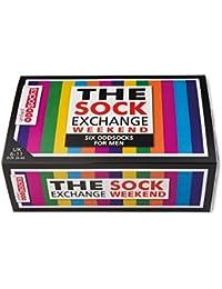 The Sock Exchange Weekender - Calcetines para hombre (desparejados, 6 unidades, tallas 39 a 46), multicolor