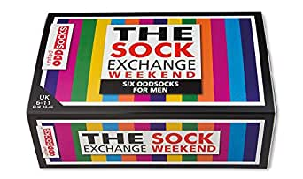 The Sock Exchange Weekend - United Oddsocks - 6 Oddsocks for Men UK 6-11
