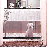 Mallalah Magic Gate Portátil Plegable Seguro para Mascotas Perro Aislado Gauze