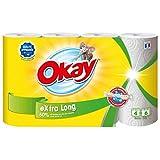 Okay Extra Long - Essuie-tout compact Blanc (XXL 4=6) - lot de 2 paquets de...