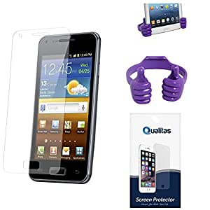 Qualitas Pack of 6 Matte Screen Protector for Asus Zenfone 4 + Mobile Holder Hand Stand