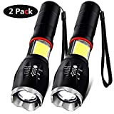 Torch, Battery Included COB LED Magnetic Torches with Work Torch Light [2 Pack]